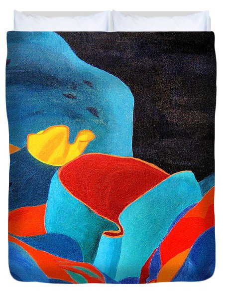 Inorganic Incandescence Duvet Cover