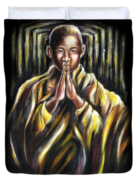 Inori Prayer Duvet Cover by Hiroko Sakai