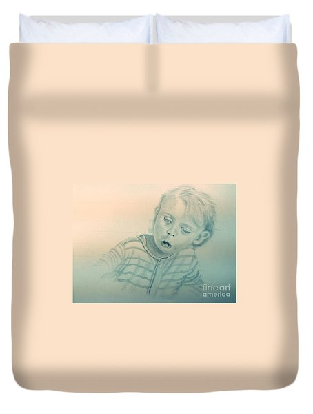 Inquisitive Child Duvet Cover