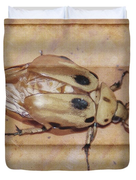 Insect On Wooden Board Duvet Cover