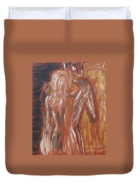 Inseparable Lovers Duvet Cover by Jasmine Tolmajian