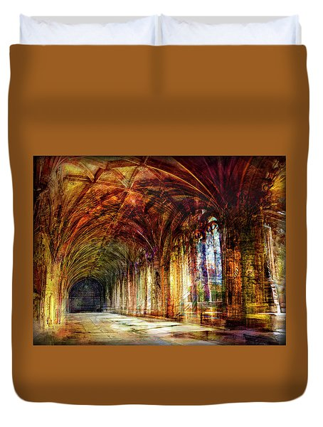 Duvet Cover featuring the photograph Inside 2 - Transit by Alfredo Gonzalez
