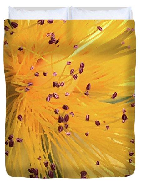 Inside A Flower - Favorite Of The Bees Duvet Cover