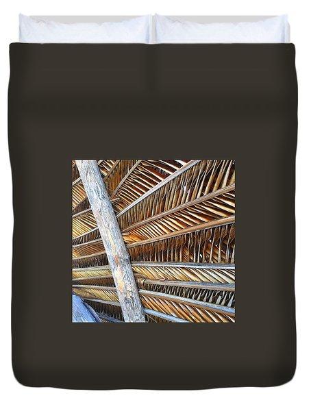 Palm Thatch Detail  Duvet Cover