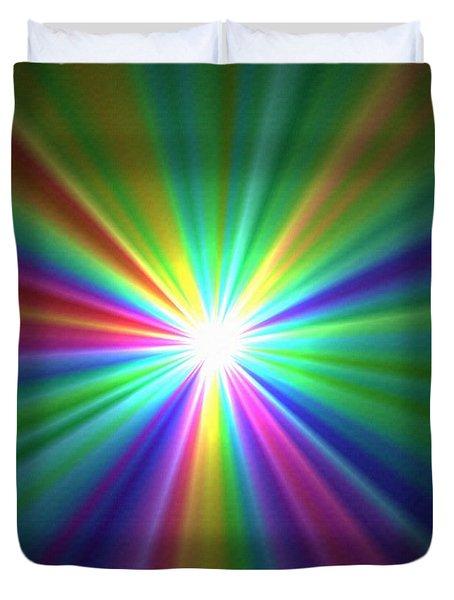 Inside A Rainbow Duvet Cover