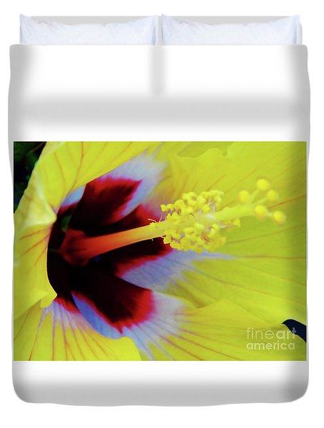 Inside A Yellow Beauty Duvet Cover