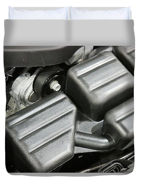 Inside An Engine Duvet Cover by Jeff Gater