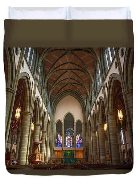Inside Christchurch Cathedral Duvet Cover