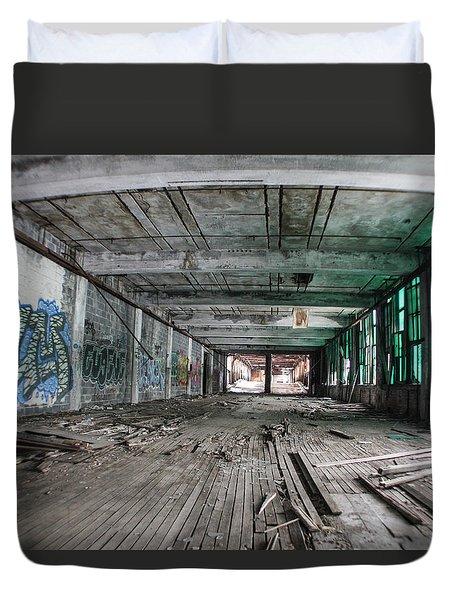 Inside Detroit Packard Plant  Duvet Cover