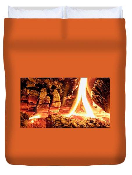 Inside Fire Duvet Cover