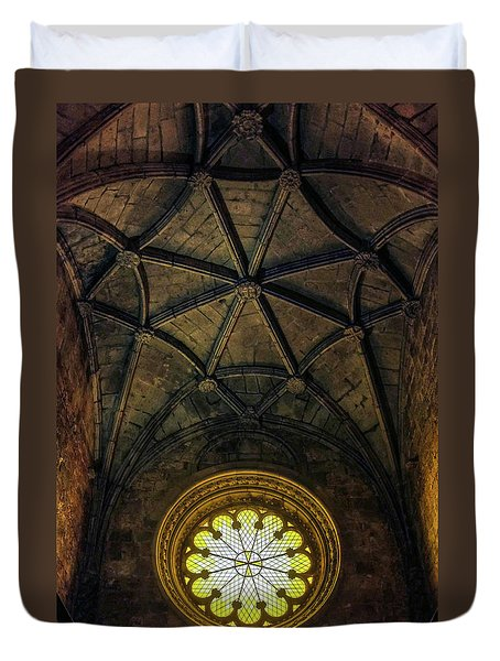 Duvet Cover featuring the photograph Inside Jeronimos by Carlos Caetano