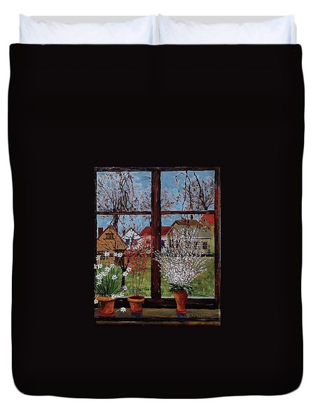 Inside Looking Out Duvet Cover by Mike Caitham