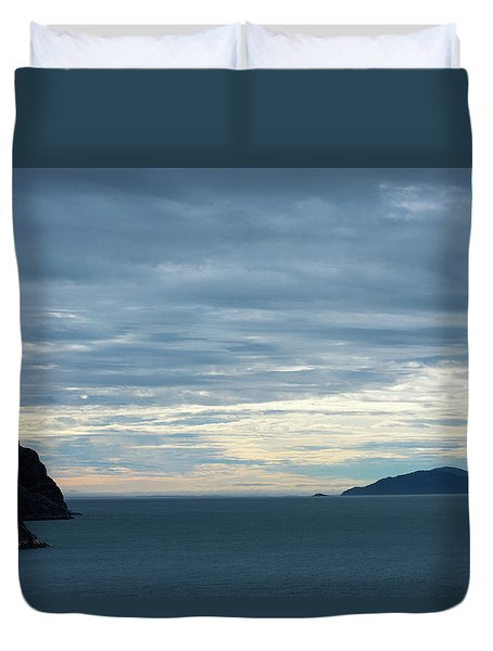 Inside Passage Sunset Duvet Cover