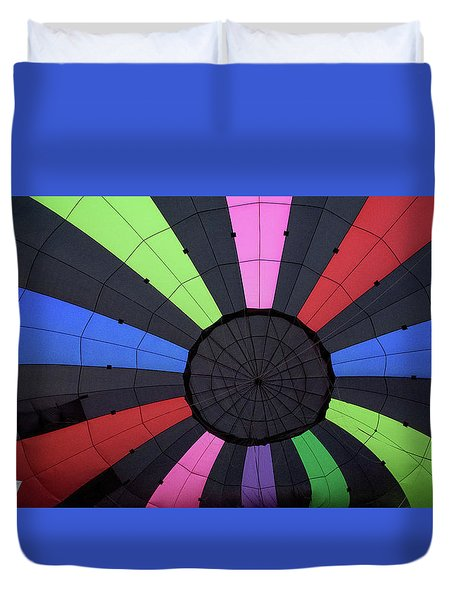 Inside The Balloon Duvet Cover