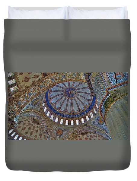 Inside The Blue Mosque Duvet Cover