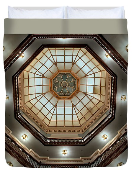 Duvet Cover featuring the photograph Inside The Dome by Mark Dodd