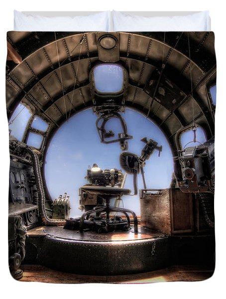 Inside The Flying Fortress Duvet Cover