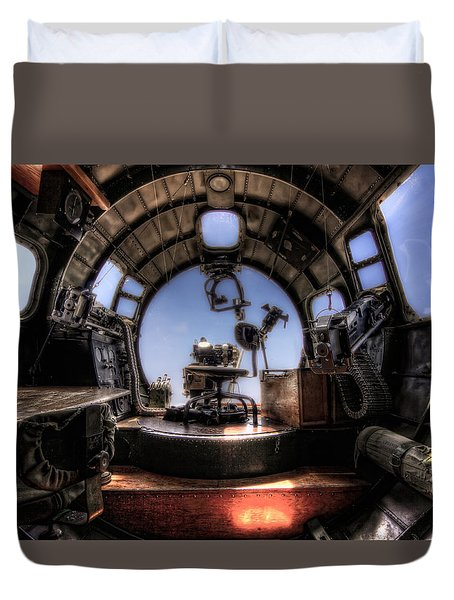 Inside The Flying Fortress Duvet Cover