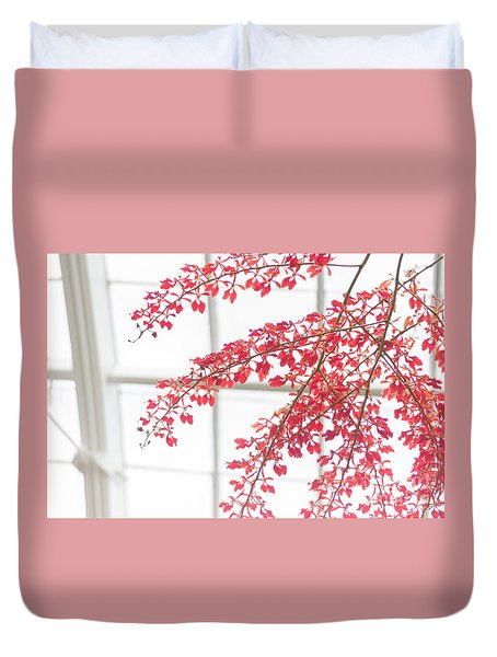 Duvet Cover featuring the photograph Inside The Greenhouse by Ana V Ramirez