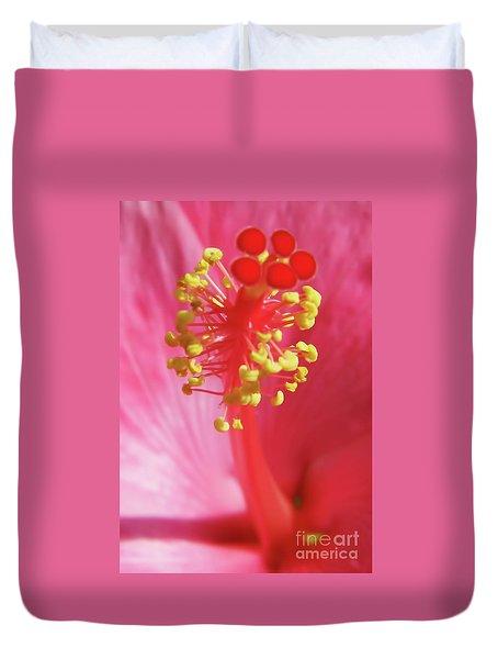 Inside The Hibiscus Duvet Cover