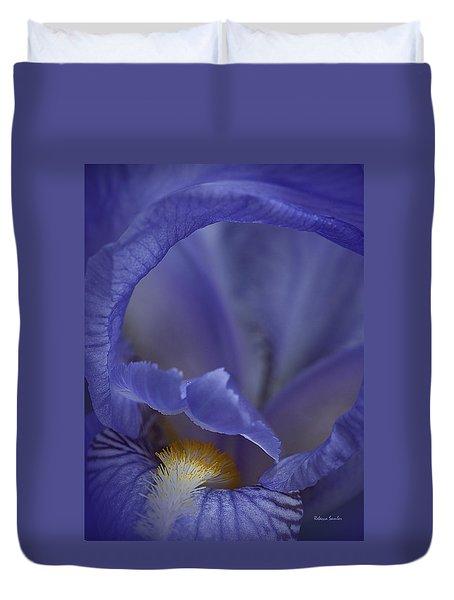 Inside The Iris Duvet Cover
