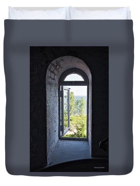 Inside The Lighthouse Duvet Cover