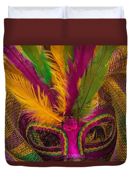 Duvet Cover featuring the photograph Inside The Masquerade by Julie Andel