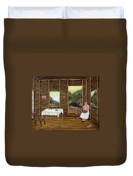Inside Wooden Home Duvet Cover