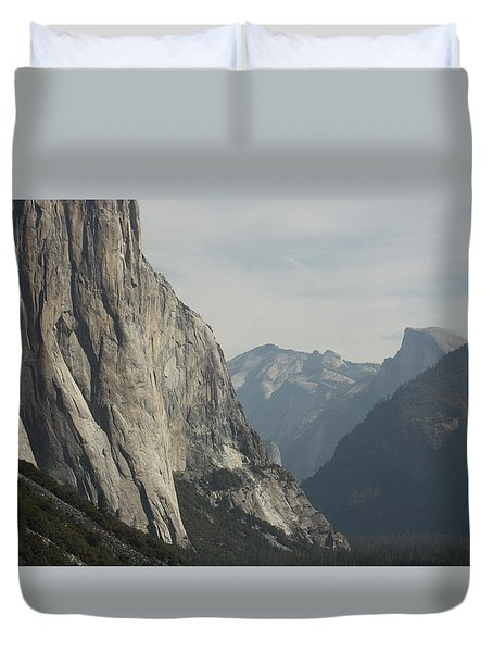 Duvet Cover featuring the photograph Inside Yosemite by Robin Regan