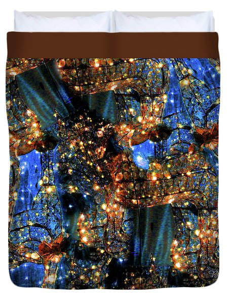 Duvet Cover featuring the digital art Inspiration #6102 by Barbara Tristan