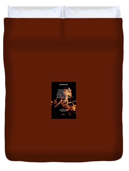 Inspiration And Creativity Duvet Cover by Warren Brown