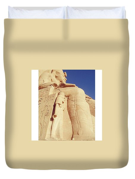 Egytian Monument Duvet Cover by Patsy Jawo