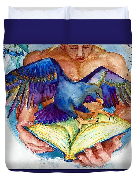 Inspiration Spreads Its Wings Duvet Cover by Melinda Dare Benfield