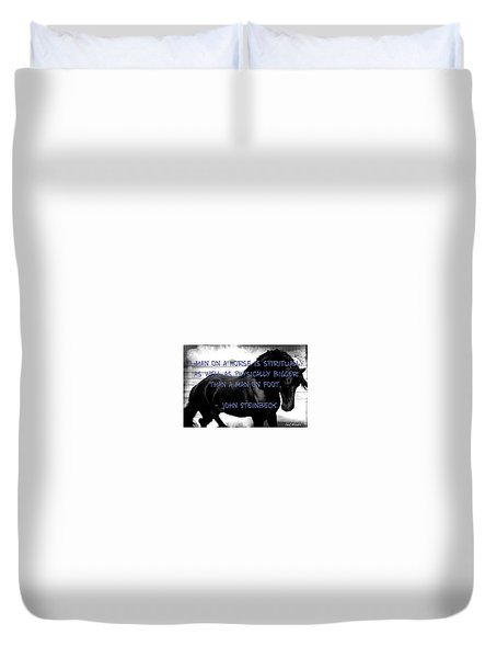 Inspirational Quote Duvet Cover