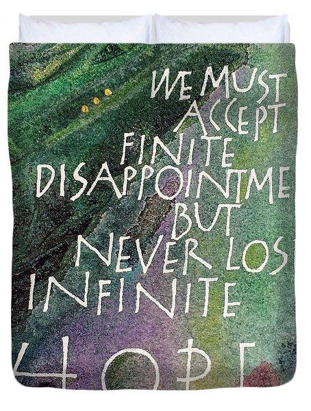 Inspirational Saying Hope Duvet Cover