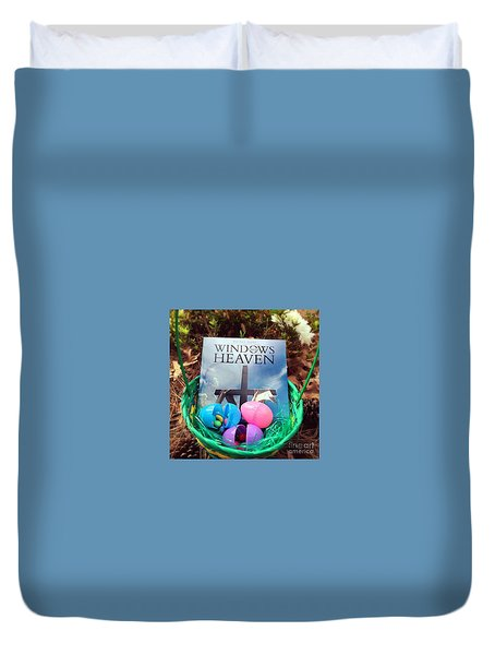 lnspirational Book Windows From Heaven Duvet Cover