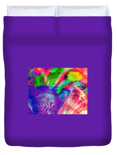 Inspired Flower Pot Duvet Cover by Fania Simon