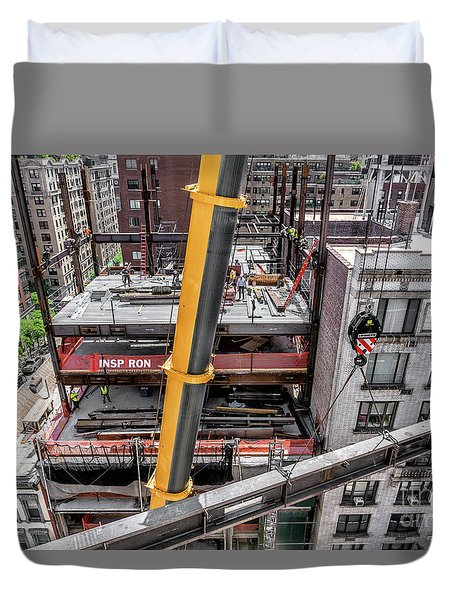 Duvet Cover featuring the photograph Inspiron 82nd Street by Rafael Quirindongo