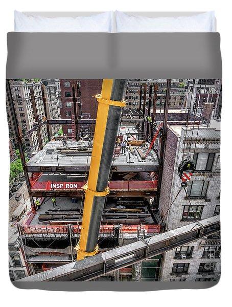 Inspiron 82nd Street Duvet Cover by Rafael Quirindongo