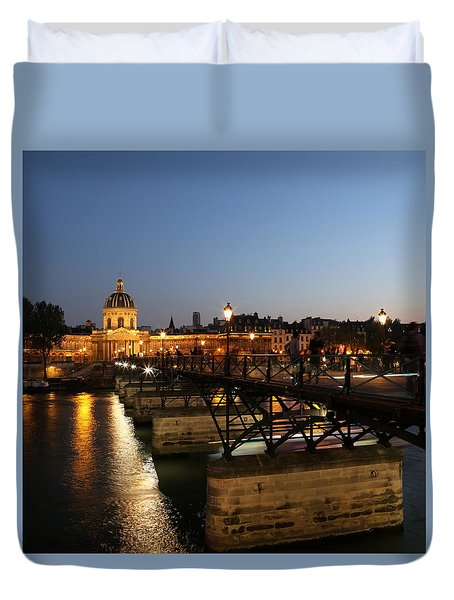 Duvet Cover featuring the photograph Institute Of France by Andrew Fare
