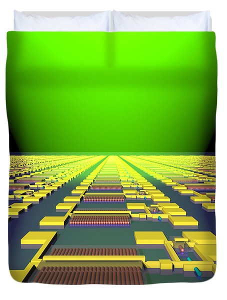 Integrated Nanowire Sensor Circuitry Duvet Cover