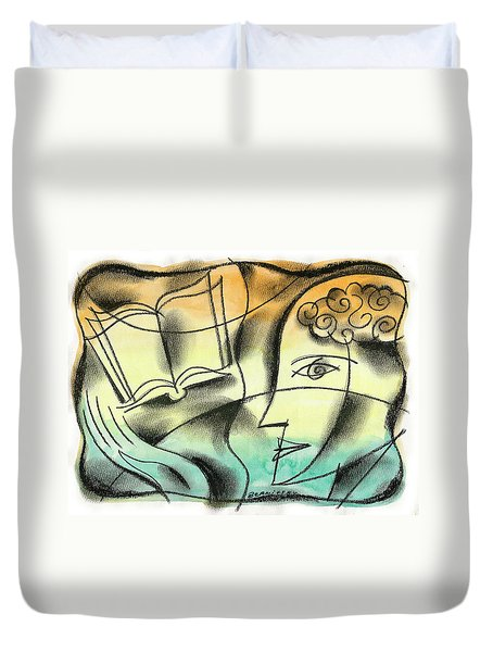 Intelligence, Knowledge, Learning Duvet Cover