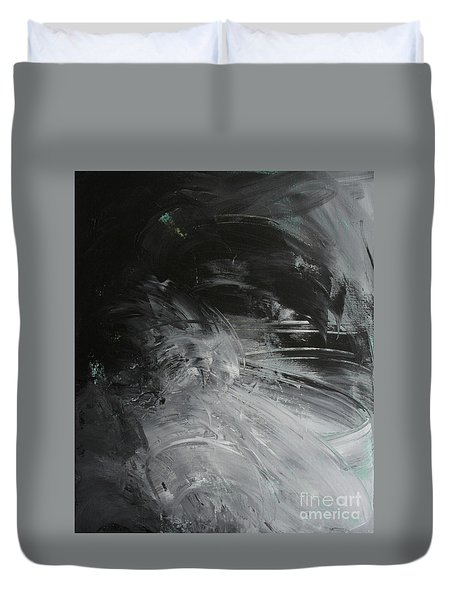 Duvet Cover featuring the painting Intelligent Answers by Robin Maria Pedrero