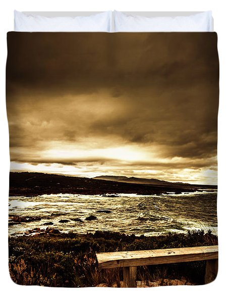 Intense Coastline Drama Duvet Cover