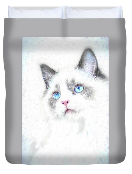 Intense Gaze Duvet Cover