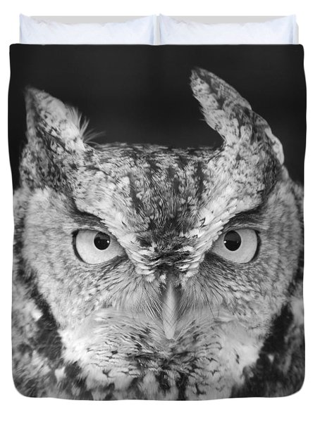 Duvet Cover featuring the photograph Intense Stare by Richard Bryce and Family
