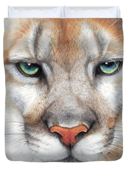 Intensity - Mountain Lion - Puma Duvet Cover