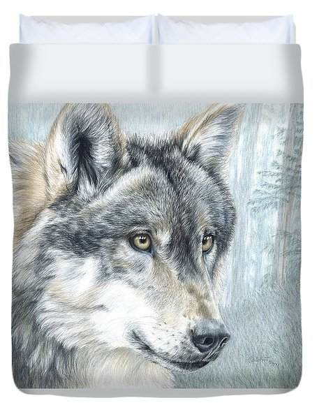 Intent Eyes Duvet Cover