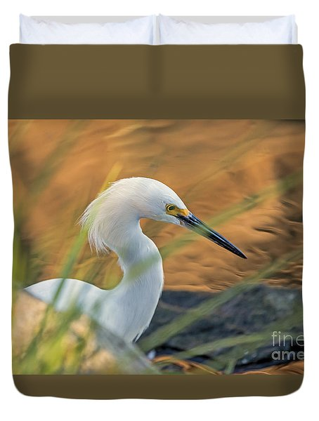 Duvet Cover featuring the photograph Intent Hunter by Kate Brown