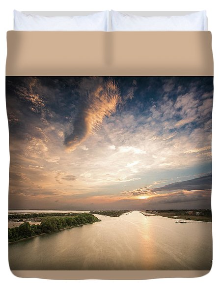 Intercoastal Sky Duvet Cover